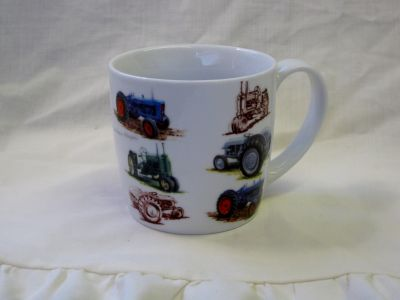 Classic Vintage Tractor fine china mug by Oscar & Bromley R35015T