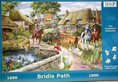 Bridle Path 1000 Piece Jigsaw Puzzle WW2 Off out for a Horse Ride