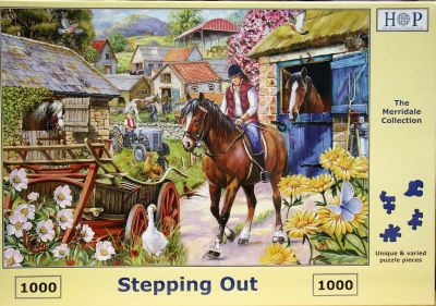 Stepping Out 1000 Piece Jigsaw Puzzle Out For A Horse Ride