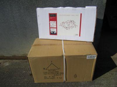 Red Skinks (Gecko) Metal wall Art x 12 Trade Pack