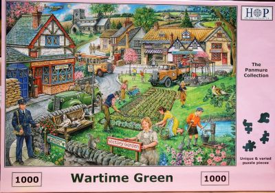 Wartime Green 1000 Piece Jigsaw Puzzle WW2 Scene Dig for Victory