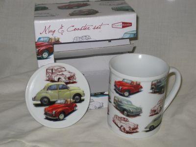 Morris Minor Mug & coaster set by Oscar & Bromley 35001M