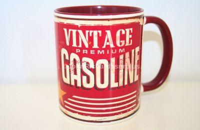 "Classic Style China Mug ""Vintage Premium Gasoline"""