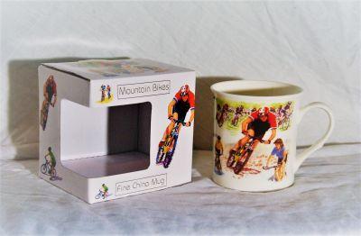 Fine China Mountain Bikes Mug Gift Boxed