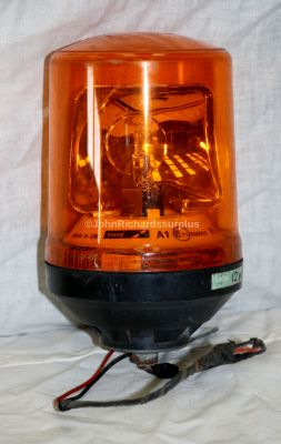 Lucas 12 Volt Single Screw Mount Amber Rotating Beacon K8691 Used Condition