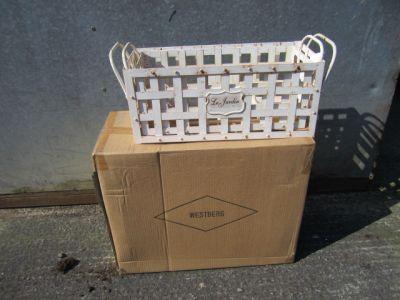 Decorative metal planter basket pair distressed finish x 4 pair Trade Pack