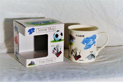 Bone China Soccer Football Mug Gift Boxed