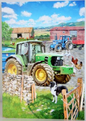Blank Greeting Card with envelope for any Occasion Modern Tractors 10563