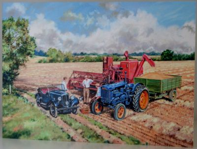Blank Greeting Card with envelope for any Occasion Fordson Tractor 10301