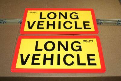 Long Vehicle truck trailer sign pair TTC1055