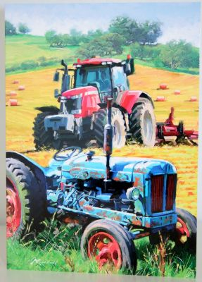 Blank Greeting Card with envelope for any Occasion Tractors Old and New 10297