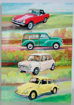 Blank Greeting Card with envelope for any Occasion Classic Great Cars 10395