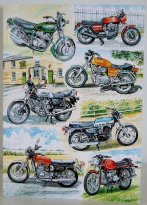 Blank Greeting Card with envelope for any Occasion Classic Superbikes 10191