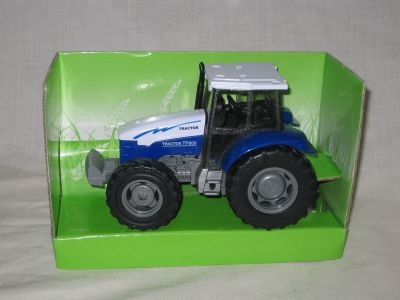 Die cast with plastic parts Blue farm tractor with sound D60283B
