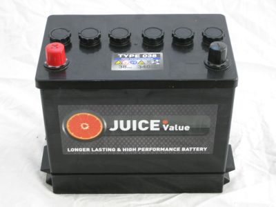 Juice 12V 38AH Car Battery Type 038 (Collect Only)