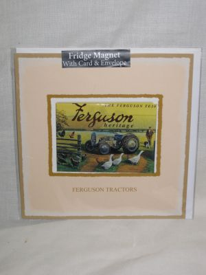 Ferguson TE20 Tractor Blank Greetings Card with Fridge Magnet 30050