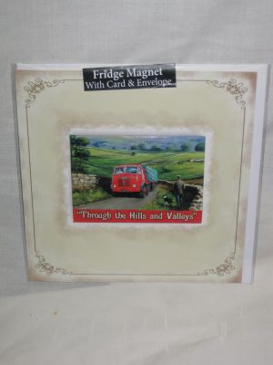 Foden Truck Blank Greetings Card with Fridge Magnet 30011
