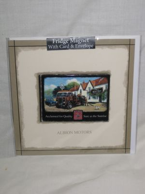 Albion Brewery Truck Blank Greetings Card with Fridge Magnet 30027