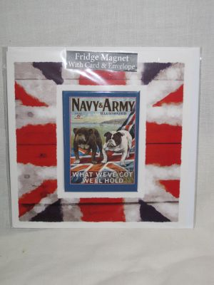 Navy & Army Blank Greetings Card with Fridge Magnet 30003