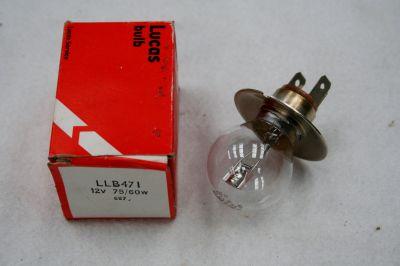Lucas Headlight Bulb pair 12v 75/60w LLB471