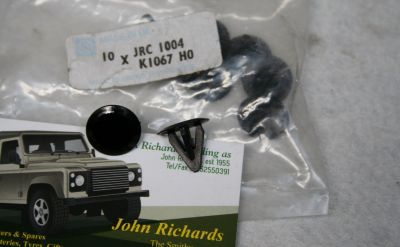 Land Rover all models push in blank clip x10 JRC1004
