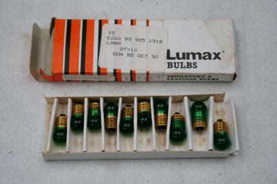 Lumax Bulb pack of 10 24v 2.8w screw in with green lens No245 21-1679