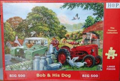 Bob & His Dog Big 500 Piece Jigsaw Puzzle Land Rover 2A and David Brown Tractor