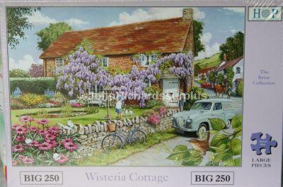 Wisteria Cottage Big 250 Piece Jigsaw Puzzle Austin A35 Van Delivery