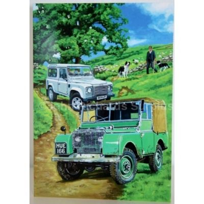 Blank Greeting Card with envelope for any Occasion Land Rover Series 1 & Defender 10055