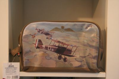 RAF canvas toiletry bag with Sopwith Camel design
