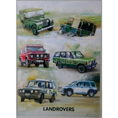 Blank Greeting Card with envelope for any Occasion Land Rover Various Models 10478