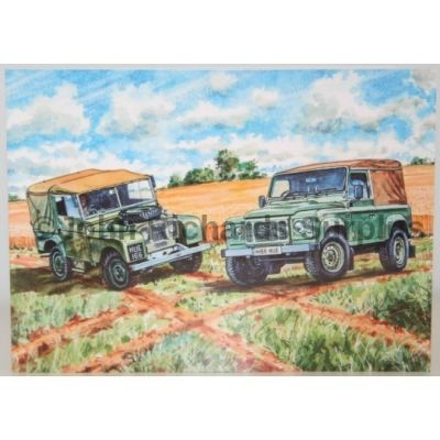 Blank Greeting Card with envelope for any Occasion Land Rover First and Last 10529