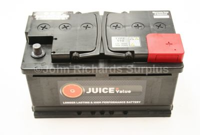 Juice 12V 80AH Car Battery Type 110 (Collect Only)