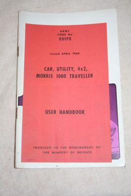 Morris Minor 1000 drivers handbook ex MOD 22172