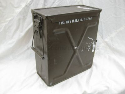 Steel ammo radio kit box with removable lid 1375994512584