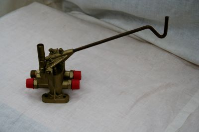 Milne and Co. gas economiser and shut off valve