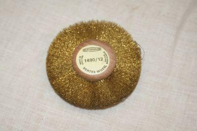 Vertex wheel soft brass wire cleaning brush 70mmx10mm 1490/12