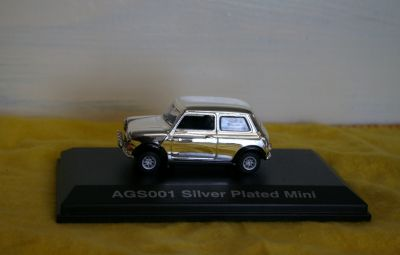 Oxford Die Cast Silver Plated Mini 1:43 scale AGS001