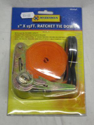 "Marksman 1"" x 15ft Ratchet Tie Down Strap 68269C"