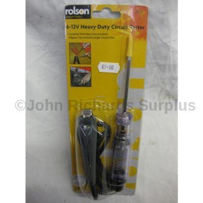 Rolson 6-12 volt Heavy Duty Circuit Tester 28137
