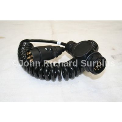 Trailer cable with 13pin to 7 pin socket socket conversion 10' long 2997