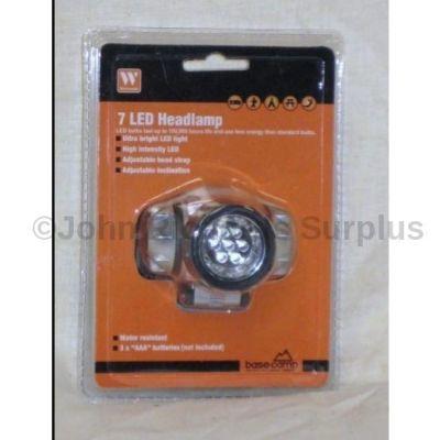 7 LED headlamp flashlight 32552