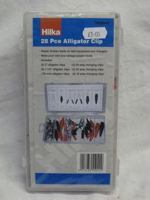 Hilka 28 Piece Alligator Clip Assortment 79550424