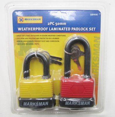 Marksman 2 Piece 50mm Padlock Set