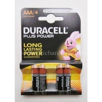 Duracell AAA Batteries x 4