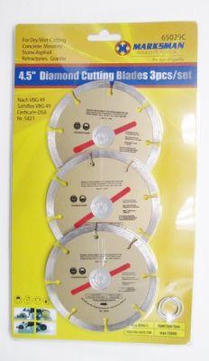 "Marksman 3 Piece 4.5"" Diamond Cutting Disc Set 65029c"