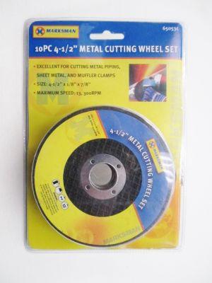 "Marksman 10 Piece 4.5"" Metal Cutting Disc Set 65053c"