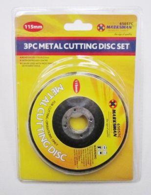 "Marksman 3 Piece 4.5"" Metal Cutting Disc Set 65057c"
