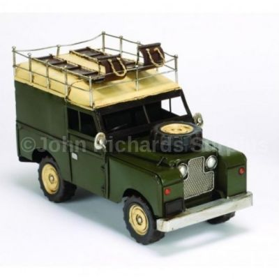 Handcrafted Tin Plate Series Land Rover SWB Hard Top