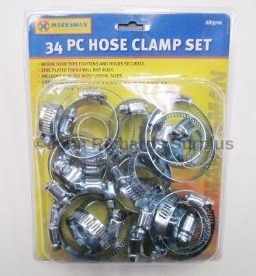 Marksman 34 Piece Hose Clamp Set 68370c